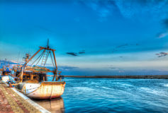 Hdr fishing boat Royalty Free Stock Photography