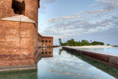 HDR of Fort Jefferson Stock Images
