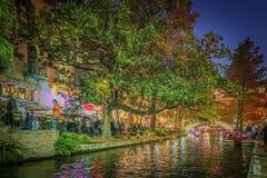 HDR foto av Riverwalken i San Antonio Royaltyfri Bild