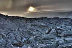 HDR Foto des Lava-Feldes Lizenzfreies Stockfoto