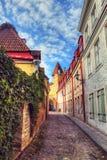 hdr foto Ridders van de middeleeuwse stad Stock Fotografie