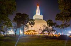 HDR fotografi av fördärvar av Anuradhapura, Sri Lanka Arkivbild