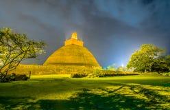 HDR fotografi av fördärvar av Anuradhapura, Sri Lanka Royaltyfria Foton