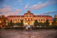 HDR fotografia Kataloński parlament w Parc De Los angeles Ciutadella, Barcelona, Catalonia, Hiszpania Fotografia Stock
