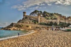 HDR fotografia w Tossa De Mar, Costa Brava, Hiszpania Obraz Royalty Free