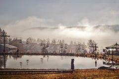 HDR fotografii wagon kolei linowej Zdjęcia Stock