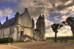 Hdr french church Stock Images