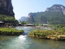 3 hdr górskiej zdjęć panoramy rzeka pionowe fotografia royalty free