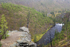 3 hdr górskiej zdjęć panoramy rzeka pionowe fotografia stock