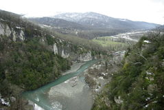 3 hdr górskiej zdjęć panoramy rzeka pionowe Zdjęcia Stock