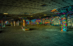 Hdr graffiti. HDR shot of an underpass with graffitti Royalty Free Stock Photography