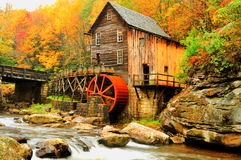 HDR Grist Mill in fall colors. Stock Image