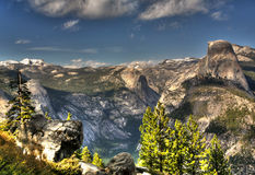 HDR of Half Dome from Glacier Point Royalty Free Stock Image