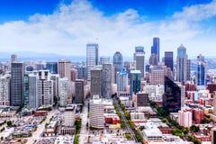 HDR-het Teruggeven van de Horizon van Seattle stock fotografie