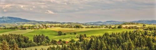 HDR-het Tsjechische Landschap van de Panoramafoto Stock Afbeelding