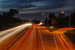 HDR Highway at Night stock photos