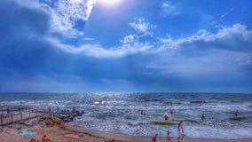Hdr himmel och strand Fotografering för Bildbyråer