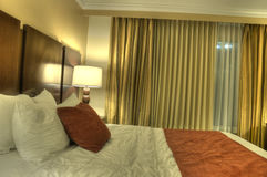 HDR of Hotel Room Royalty Free Stock Photography