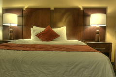 HDR of Hotel Room Royalty Free Stock Photo