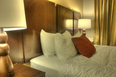 HDR of Hotel Room Stock Image