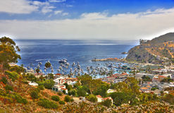 HDR Image of Avalon Santa Catalina Stock Image