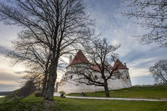 HDR image of the Bauska castle, Latvia Royalty Free Stock Photography