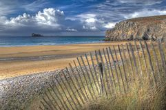 HDR image - plage de Pen Hat, Brittany, France Royalty Free Stock Photography