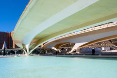 HDR image of a bridge, City of Arts and Sciences, Valencia Stock Photos
