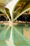 HDR image of a bridge, City of Arts and Sciences, Valencia Royalty Free Stock Image