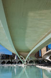 HDR image of a bridge, City of Arts and Sciences, Valencia stock images