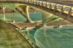 HDR image of a bridge, City of Arts and Sciences, Valencia Stock Photos