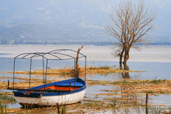 HDR image of Dojran lake. Macedonia Royalty Free Stock Photography
