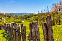 HDR IMAGE fences and landscape Stock Image