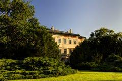 HDR image of the Historic Grebova villa in Havlicek park (Havlickovy sady aka Grebovka) during a nice summer sunny day Stock Photos