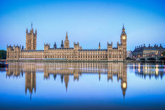 Hdr image of Houses of parliament. England Stock Photography