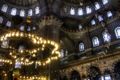HDR image of the interior of the Yeni Cami (New Mosque), Istanbul Stock Photography