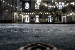 HDR image of the interior of the Yeni Cami (New Mosque), Istanbul Royalty Free Stock Photography