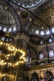 HDR image of the interior of the Yeni Cami (New Mosque), Istanbul Royalty Free Stock Images