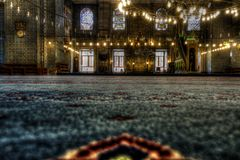 HDR image of the interior of the Yeni Cami (New Mosque), Istanbul Stock Photo