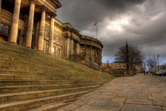 HDR image of Liverpool Central Library. In William Brown St, Liverpool, England Royalty Free Stock Photos