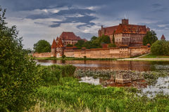 HDR image of medieval castle in Malbork Stock Photos