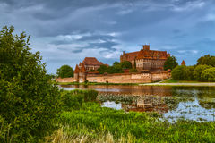 HDR image of medieval castle in Malbork Royalty Free Stock Photography