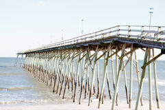 HDR Image of Pier in Carolina Beach, NC Royalty Free Stock Photos