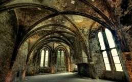HDR image from ruins of the abbey of beauport in f Stock Image