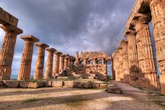 HDR image of the Selinunte temples 06 Royalty Free Stock Photos