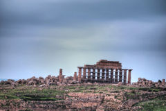 HDR image of the Selinunte temples 09 Royalty Free Stock Photo