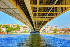 HDR IMAGE under Branko s Bridge Royalty Free Stock Photo