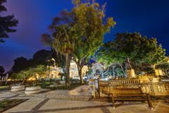 HDR image of the Upper Barrakka Gardens at night, Valetta.  Royalty Free Stock Photography