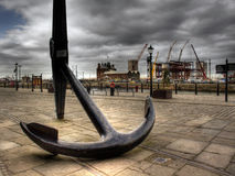 HDR image of a very large ships anchor stock images