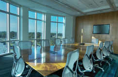 HDR of Interior of Conference Room Royalty Free Stock Photos